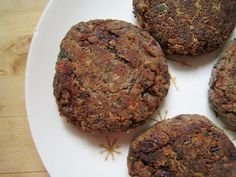 Mexican Black Bean & Buckwheat Burger. These are wonderful! I freeze them and have them as quick dinners or lunches later. I wrap each in a little square of waxed paper and tape it shut.
