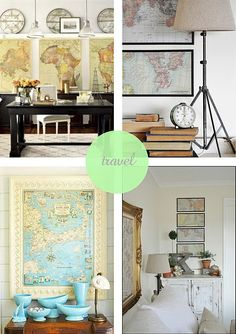 Always wanted a globe for my office, but maybe just decorate with wall maps instead?