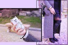 A/W Outfit: Lingerie sopra il maglione | Kiki Tales #fall #autumn #autunno #style #look #lookbook #zara #black #white #cuissardes #lingerie #lingeriedress#maxicoat #grey #aldo #storedogdog #mango #primark