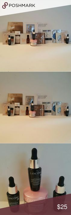 New!! Mega!!!! samples of Skincare lot. Awesome New!! MEGA!!!!!!Skincare lot samples. Very nice lot of some very awesome skincare products. Test & try before you buy the regular size. 14 nice samples. 4 are very nice generous minis. Please see details in pics. These are NOT full size. They are however, wonderful! Message with questions &;thanks for stopping by😀😉😊 Fresh, lancome & more! Other