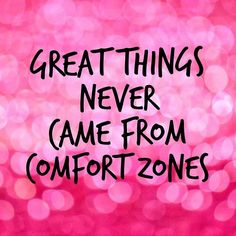 Step out of your comfort zone today! For your next workout try something new. Maybe yoga, boxing, swimming, the possibilities are endless. Your body plateaus from doing the same routine. It's time to shake things up!! #getoutofyourcomfortzone #motivation