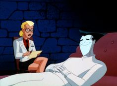 The Joker showed Dr. Harleen Quinzel an unexpected side during their sessions in Arkham Asylum. Batman Comic Art, Gotham Batman, Im Batman, Batman Comics, Batman Robin, Dc Comics, Batman Year One, Jason Todd Batman, Poison Ivy Batman