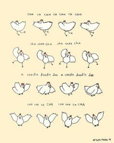 Arrested Development Chicken Dance Print - Hand-Illustrated. $20.00, via Etsy.