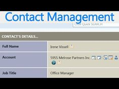 SharePoint CRM Contacts Management Demo - see more @ www.sharepointcrm.com/demo #sharepoint #crm #demo #contants #Clients