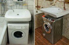 Маленькая ванная: как поместить ванну, умывальник, стиральную машину