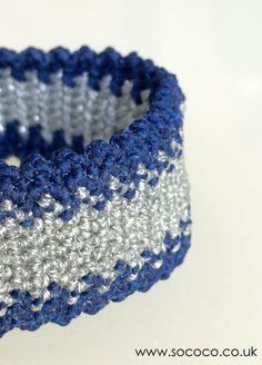 Midnight Blue/Sliver  www.sococo.co.uk Macrame Bracelets, Midnight Blue, Friendship Bracelets, Unique, Jewelry, Fashion, Moda, Jewlery, Jewerly