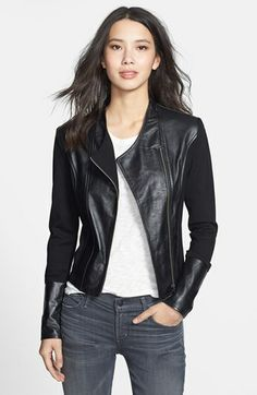 Lamade Ponte  amp  Leather Jacket available at  Nordstrom Closet  Essentials ef1052a4c9744