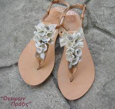 Handmade silk cocoons sandals Nafsika Greek