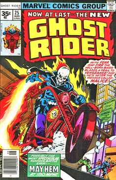 Cover for Ghost Rider (Marvel, 1973 series) #25 [30 cent cover price] August 1977