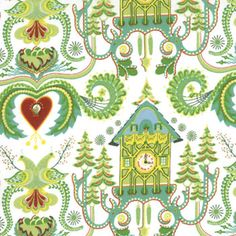 Cute printed fabric - lovely for quilting