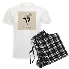 Ink Art Flower Gardener Pajamas #editable #monogrammed
