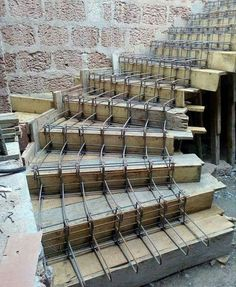 Discover thousands of images about Slabless stair reinforcing work process continue .till cover and concerte House Front Design, Modern House Design, Stairs Architecture, Architecture Details, Architecture Student, Escalier Art, Concrete Staircase, Building Foundation, Home Stairs Design