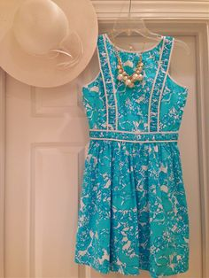 Lilly Pulitzer She's a Fox Dress in Shorely Blue