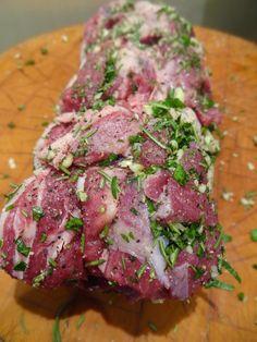 Scrumpdillyicious: Herb, Garlic & Dijon Roasted Leg of Lamb Lamb Recipes Oven, Goat Recipes, Greek Recipes, Cooking Recipes, Healthy Recipes, Turkish Recipes, Healthy Food, Lamb Roast Recipe, Roast Lamb Leg