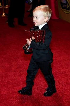 "In a landslide, Keelan Harvick wins the highly-esteemed ""Cutest Kid of the Night Award"" #ChampionsWeek"