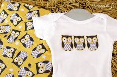 No sewing skills required for these printable onesie iron-on patterns #nosew #babyshower
