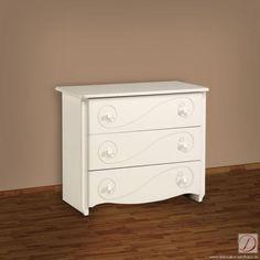 Kommode HEREFORD weiß B98cm MDF - Diese modernen Zimmermöbel sorgen auf jeden Fall für Wohlfühlstimmung. Durch den trendigen romantischen Look sehen Sie immer wieder gerne hin.