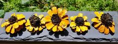 Painted Pine cone daisy Flowers similar to Painted Pine cone Zinnia Flowers Zinnia Pine cones Yellow daisy SET OF THREE Wreath making by MagnoliaFloralTexas on Etsy https://www.etsy.com/listing/384740172/painted-pine-cone-daisy-flowers-similar