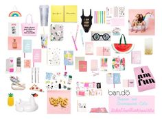 """""""Papers and Accessories Cute"""" by gabiure on Polyvore featuring moda, ban.do, Miss Selfridge y Bando"""
