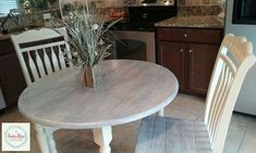 This was an adorable project! I absolutely fell in love with it when it was done! It ended up in a woman's apartment where she wanted something stylish but… Refurbished Furniture, Paint Furniture, Furniture Design, Table And Chairs, Dining Table, Pallet Seating, Corner Table, Decorating Your Home, Country