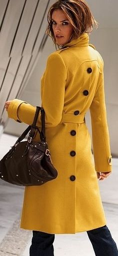 Mustard color coat!
