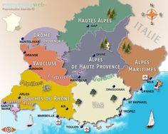 Vinho e Delicias - Sobre vinho: Mapas da PROVENCE - França