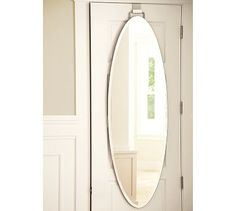 ... Convenience Of A Full Length Mirror Without Drilling Holes To Install  It. Our Frameless Beveled Mirror Hangs From A Bracket That Fits Over Your  Door.