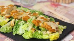 Ensalada César con pollo crujiente, receta fácil paso a paso - Receitas - Fresh Rolls, Lettuce, My Recipes, Potato Salad, Sushi, Potatoes, Vegetables, Cooking, Ethnic Recipes