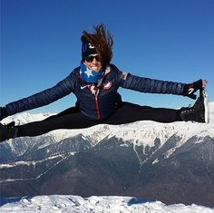 Luger Erin Hamlin was on top of the world at Sochi. Source: Instagram user erinhamlin Luge, Jumping For Joy, Winter Games, Team Usa, Top Of The World, Winter Olympics, Photo Galleries, Hero, Gallery
