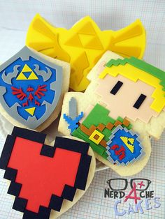 Zelda Cookies: Epic, hope my sister takes notes and suprises me with some... hint hint