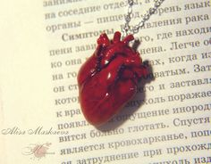 New one realistic heart from polymer clay. by Krinna.deviantart.com on @deviantART