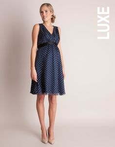 polka dot maternity silk dress