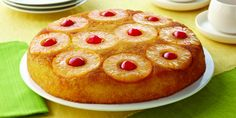 Learn more about Dole's recipe for Easy Pineapple Upside Down Cake. Explore this recipe and many more on the new Dole Sunshine website! Pineapple Upside Down Cake, Pineapple Cake, Pineapple Delight, Dole Pineapple, Canned Pineapple, Lemon Cream Puff Recipe, Scones, Mousse, Cake Recipes
