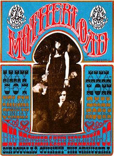 ☯☮ॐ American Hippie Classic Rock Music ~ By Rick Griffin, 1 9 6 7, Concert poster Motherload.