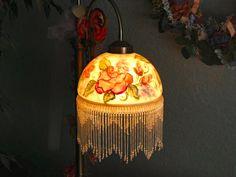 Reverse glass lamp painting. By: Jaynne Sanderson