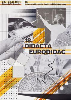 18. Didacta - Eurodidact - Basel/Schweiz-Plakat, Wolfgang Weingart