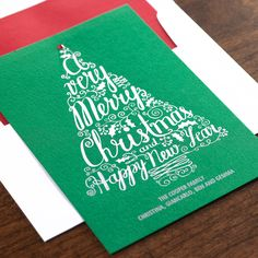 Cheery Tree Holiday Card by Checkerboard Ltd.