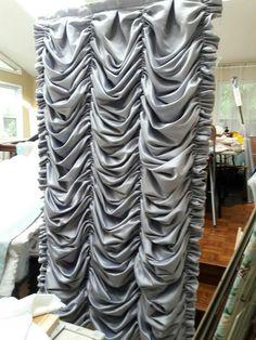 Perfect Austrian Shades custom made any size lots of fabric options  (satin, silk, sheers, linen, lace...) made by Maribel Claribel Interiors.