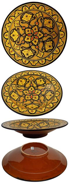 Decorative Plates and Bowls 36019: Multi Onyx 12-Inch Classic Design ...