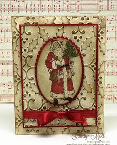 The Scrap n' Stamp Shop: FATHER CHRISTMAS - A Vintage Christmas Card & Other…