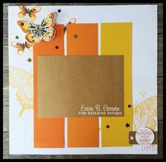 Stampin' Up Watercolor Wings and Swallowtail scrapbook page for Stamp Club @Pink Buckaroo Designs