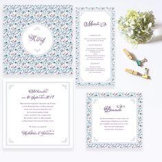 """Liberty of Love"" wedding invitation"