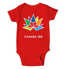 Canada 150 Infant Onesie  Canada 150 Apparel Collection by North and Oak