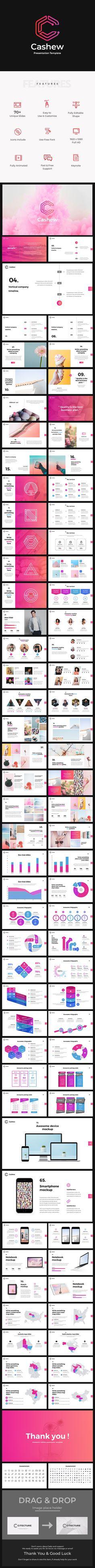 Cashew Creative PowerPoint Presentation Template - 100 Total Slides