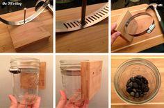 Hanging Mason Jar DIY Steps 1-6
