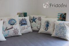 """maritimes Kissen """"Seaside"""" von Fridolini auf DaWanda.com"""