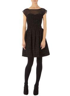 Black lurex textured dress  Price:$89.00