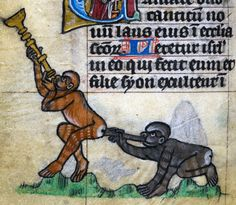 Year of the Monkey! 'The Maastricht Hours', Liège 14th century British Library, Stowe 17, fol. 61v