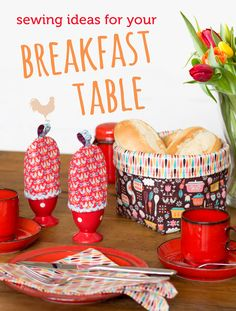 Sewing Ideas for your Breakfast Table featuring Andrea Muller's Vintage Kitchen fabric collection! #iloverileyblake #fabricismyfun