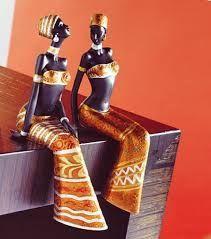 Resultado de imagen para muñecas africanas en papel mache